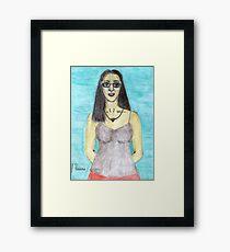 Colored Pencil Self-Portrait Framed Print