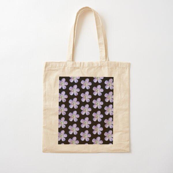 Purple Phlox Cotton Tote Bag
