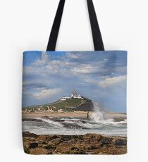 Nobbys across the Cowrie Hole - Newcastle NSW Tote Bag