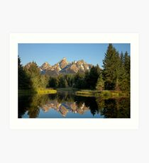 Morning light on the Grand Tetons Art Print
