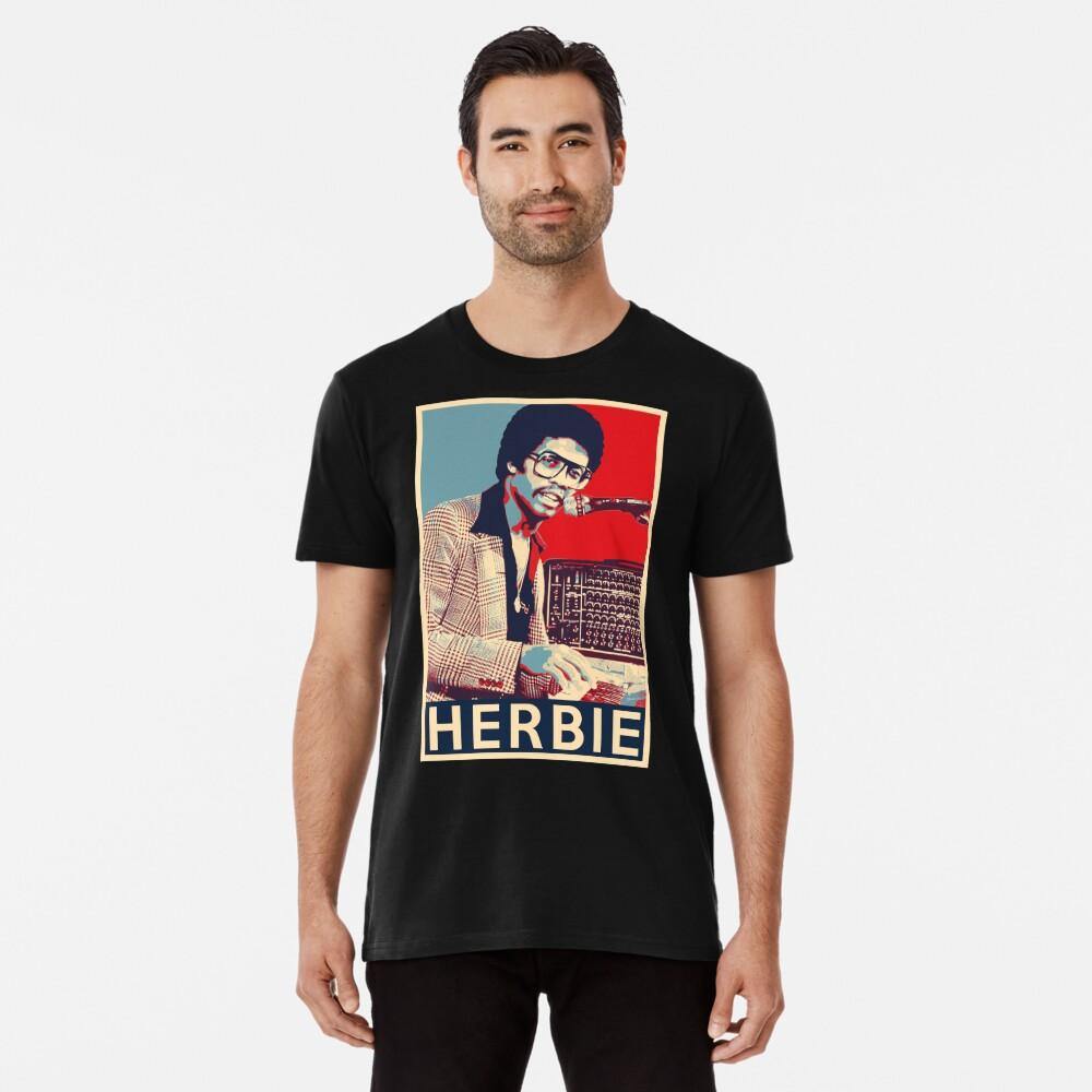 Herbie Hancock Hope Poster - Sizes of Jazz Musician History Premium T-Shirt