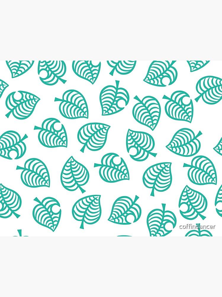 Animal Crossing New Horizons Leaf Pattern Art Board Print By
