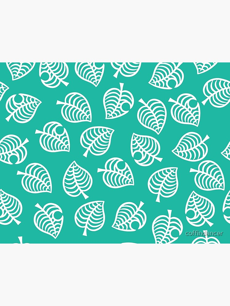 Animal Crossing New Horizons Leaf Pattern Art Board Print By Coffindancer Redbubble