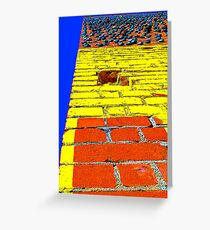 """Vertical Car Yard"" Greeting Card"