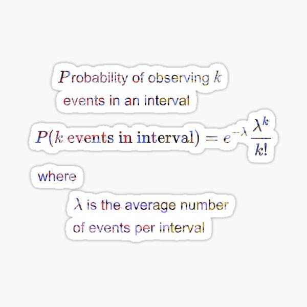 Poisson distribution #Poisson #distribution #PoissonDistribution Sticker