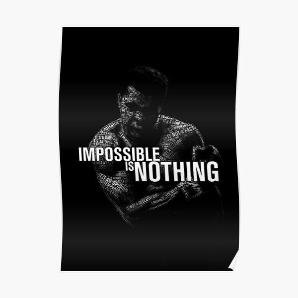 """Mohamed Ali """"impossible n'est rien"""" Poster"""