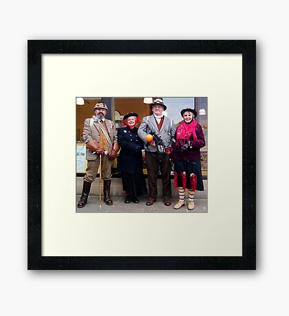The Goth Weekend at Whitby, Oct 2011. 21 Framed Print