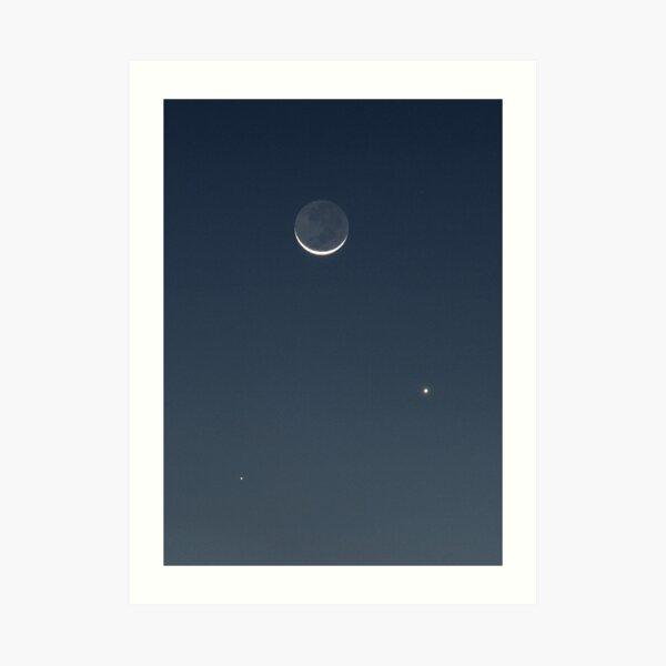 Moon, Mercury & Venus in conjunction Art Print