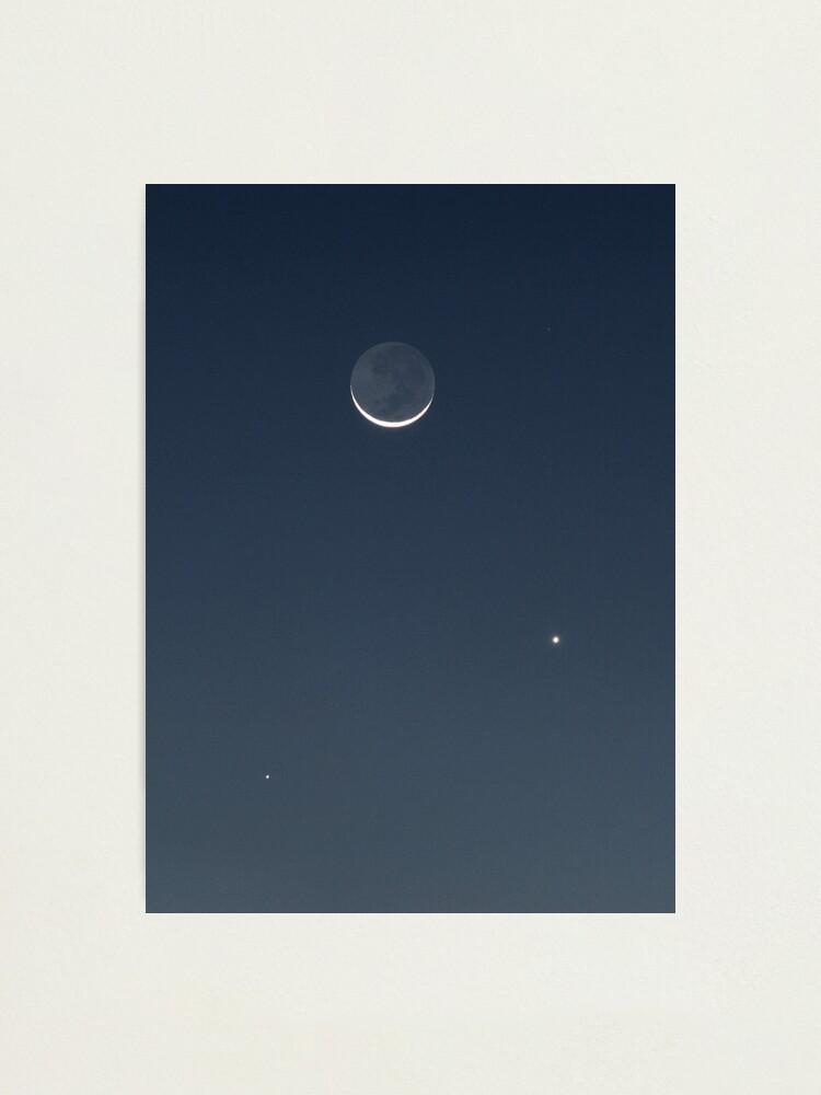 Alternate view of Moon, Mercury & Venus in conjunction Photographic Print