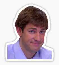 Jim's Smirk - The Office Sticker