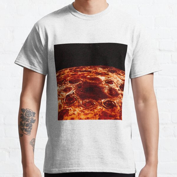 JIRAM imagery of Jupiter's north pole and its hypnotic, seemingly stable arrangement of eight cyclones around a central, large vortex Classic T-Shirt