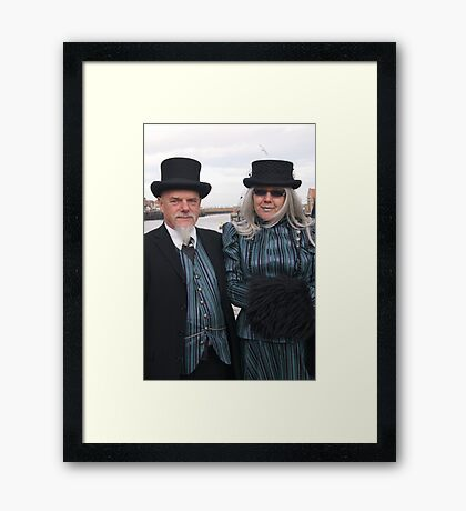 The Goth Weekend at Whitby, Oct 2011. 31 Framed Print