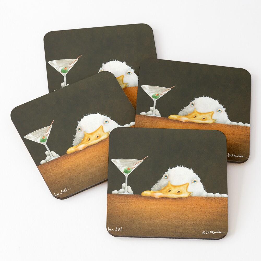 Will Bullas / art print / bar bill / duck Coasters (Set of 4)