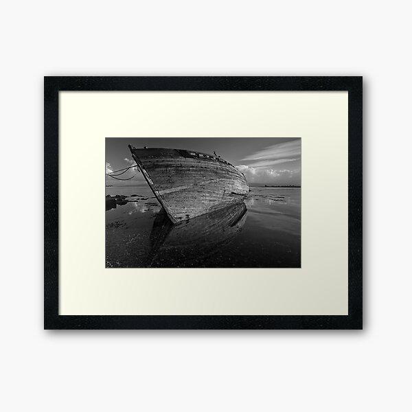 Reflections on Dereliction - Salen, Isle of Mull, Scotland Framed Art Print