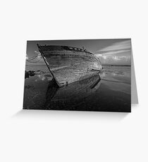 Reflections on Dereliction - Salen, Isle of Mull, Scotland Greeting Card