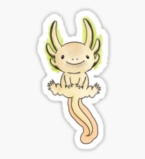 Golden Axolotl- Watercolor Vector Sticker