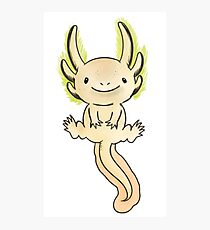 Golden Axolotl- Watercolor Vector Photographic Print