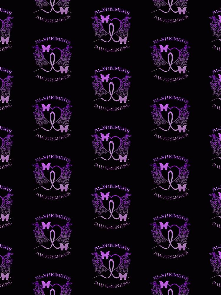 Alzheimers Awareness Purple Butterflies by HavenDesign