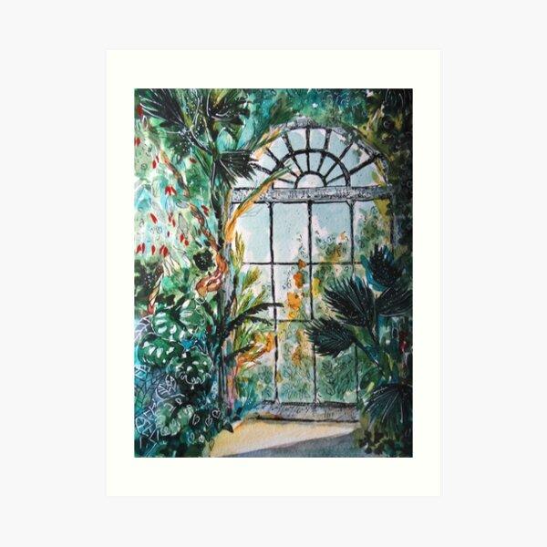 Greenhouse watercolor Art Print