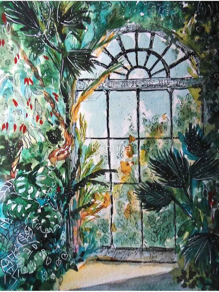 Greenhouse watercolor by Kuhtina