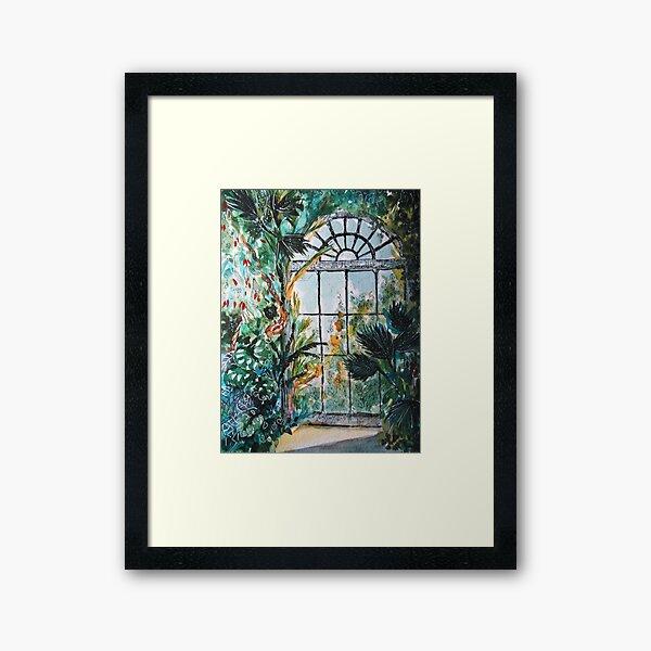 Greenhouse watercolor Framed Art Print