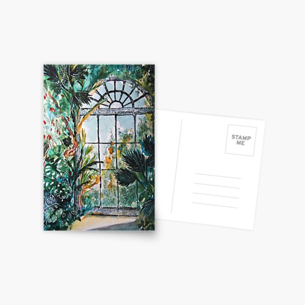 Greenhouse watercolor Postcard