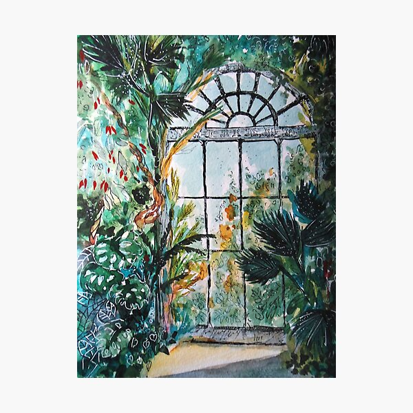 Greenhouse watercolor Photographic Print