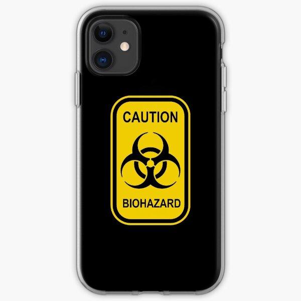 Caution Biohazard Sign - Yellow & Black - Rectangular iPhone Soft Case