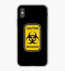 Caution Biohazard Sign - Yellow & Black - Rectangular iPhone Case