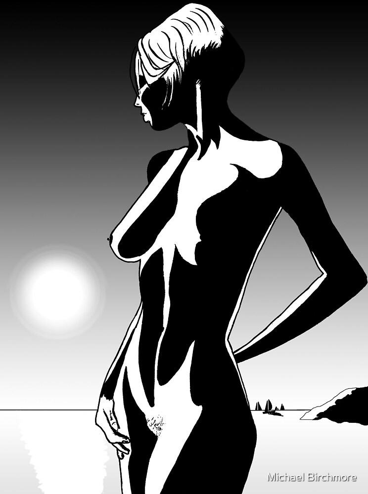 Nude by sea by Michael Birchmore