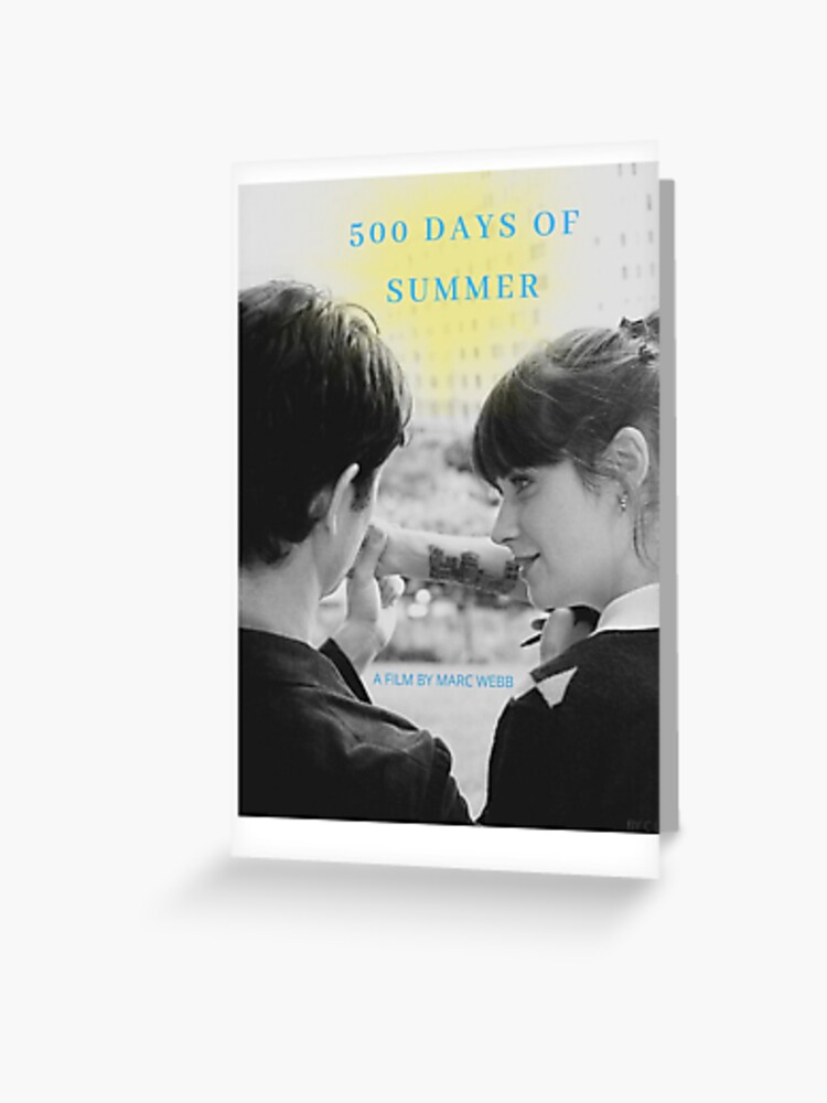 Alternative 500 Days Of Summer Poster Greeting Card By Cathsart Redbubble