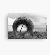 Wire and Wood Canvas Print
