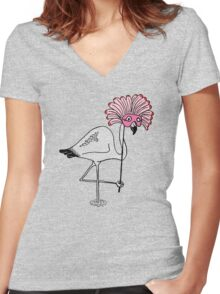 Over The Top? Women's Fitted V-Neck T-Shirt