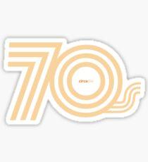 Born in the 70's Sticker