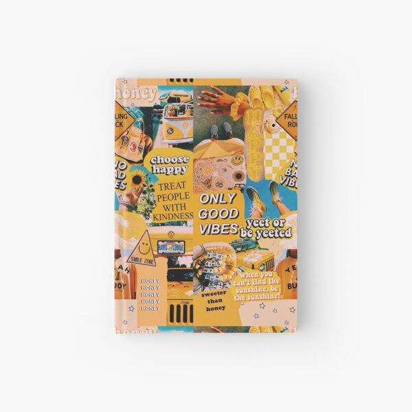 vsco yellow collage  Hardcover Journal
