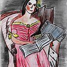 Reading Lady ♦ Giuseppina Strepponi  by Kittycat10