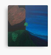 Love Earth Water Sky by LindaGLarsen Canvas Print