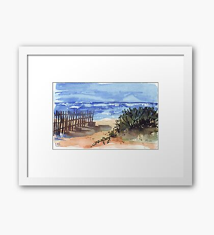 If you are lucky enough to be at the beach... Framed Print