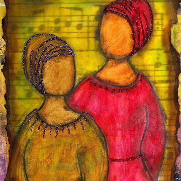 Soul Sistahs SING of Friendship by alwfineart