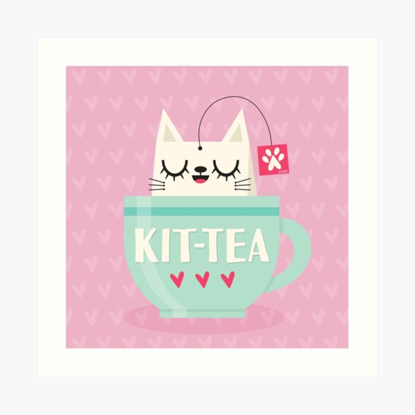 Kit-tea Art Print
