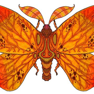 Autumnacontinekly Leaf Moth by T-Raccoon