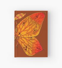 Autumnacontinekly Leaf Moth Hardcover Journal