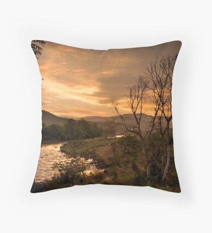 Sunset over the Umkomaas River, Kwazulu Natal, South Africa Throw Pillow
