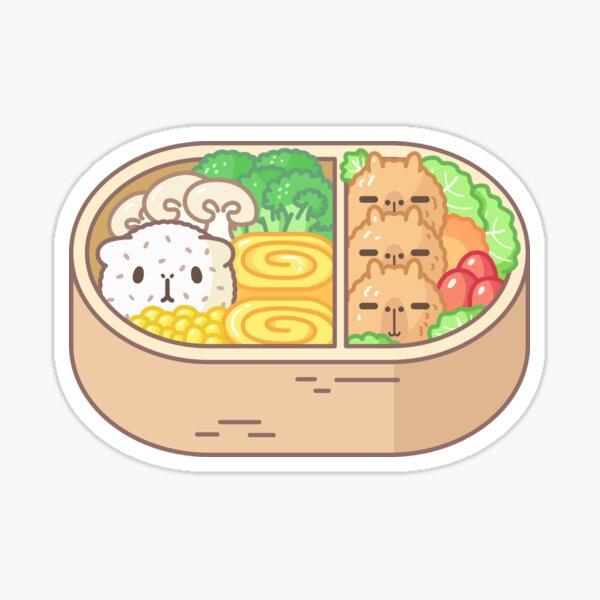 Bubu and Moonch, Guinea pig and capybara bento  Sticker