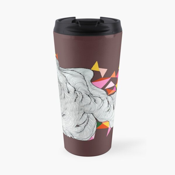 Bunting in the clouds - Maroon Travel Mug