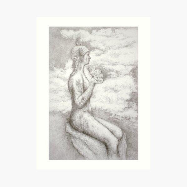 The sky Art Print