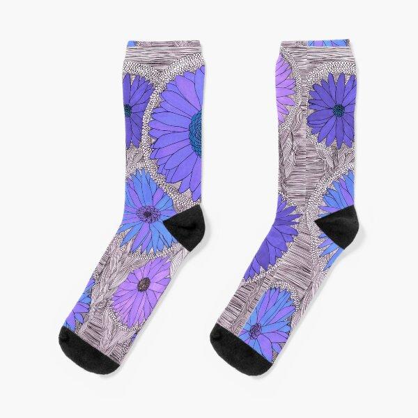 Gerbera Daisy- Purple Socks
