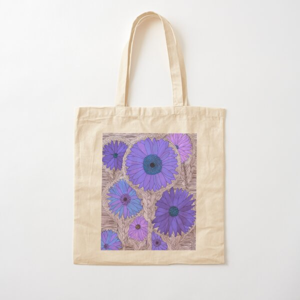 Gerbera Daisy- Purple Cotton Tote Bag