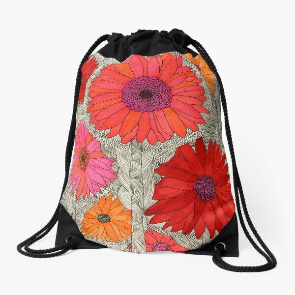 Gerbera Dasies Drawstring Bag