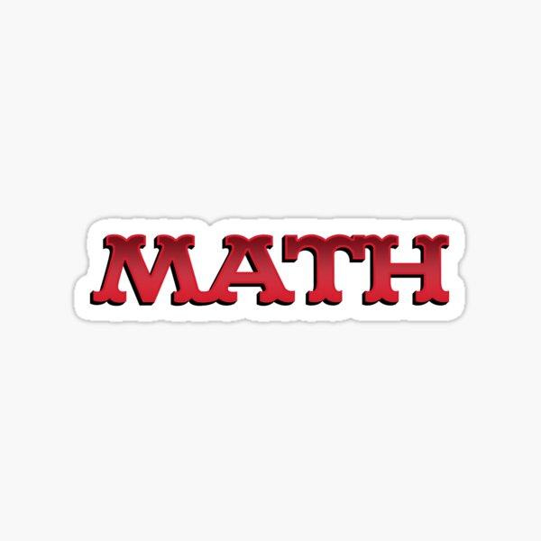 Math Teacher Comics Vintage Retro Sticker